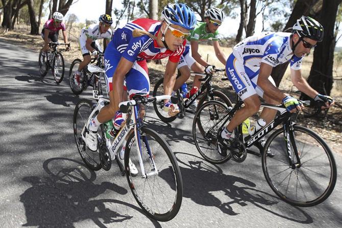Richard Lang riding for Great Britain at Jayco Herald Sun Tour (Mark Gunter - markgunter.com.au)