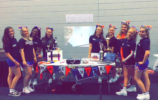 Our Cheer squad at this year's Freshers' Fair!