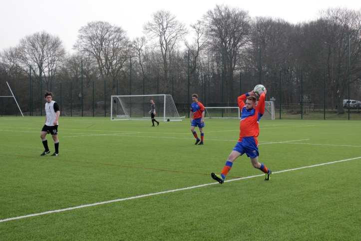 Our men's football team competing against Manchester at Maiden Castle last year.