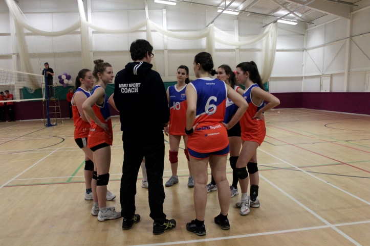 Half time team talk for our women's team at last year's Conference Cup finals!