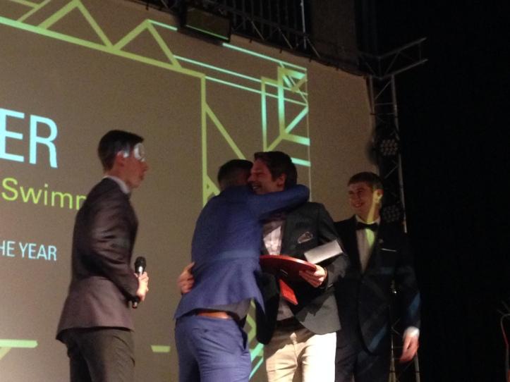Martin Schweizer collects his award